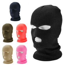 3 Hole Full Face Ski Mask Winter Sport Cycling Cap Balaclava Beanie Tactical Hat