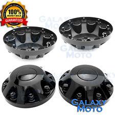 """11-17 Chevy Silverado DUALLY Model BLACK 17"""" 2x Front Wheel Center Hub Cap Cover"""