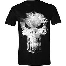 T-shirt The Punisher Distressed Skull logo Marvel maglia teschio Uomo ufficiale