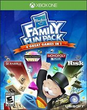 Hasbro Family Fun Pack: 4 Games In 1 [Xbox One XB1, Monopoly Scrabble Risk] NEW
