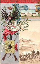 [RM9] CARTOLINA REGGIMENTALE SCUOLA CENTRALE DI TIRO FANTERIA 1865