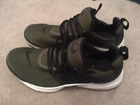 Nike Presto Trainers Size UK 10 Olive Green Shoes Mens