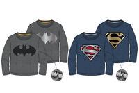 DC Comic Batman Superman Jungen Shirt Langarm Reversible 104,116,128,140 Neu