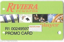 Riviera Las Vegas Hotel Casino Player's Rewards PROMO card -Scarce, few made NLA