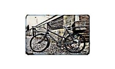 Cyclemaster Roundsman Motorbike Sign Metal Retro Aged Aluminium Bike