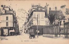 "REIMS 67 rue carnot magasin ""au chat perçant"" attelage timbrée 1924"