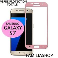 Tempered Glass Window Pink Protection Film Integral Total Samsung Galaxy S7