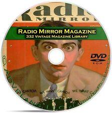 Radio Mirror, 332 Classic Old Time Radio OTR Magazine Series in PDF on DVD B94