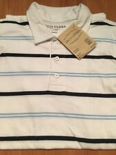 *New* High Sierra white stripes/ Polo t-shirt/ size S
