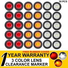 "30x 3/4"" LED Side Marker Tail Lights Truck Boat Trailer 10 AMBER 10 RED 10 WHITE"