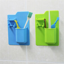 Silicone Bathroom Toothpaste Organizer Toothbrush Holder Razor Storage Stand