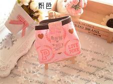 4 pcs Pink love cartoon Girl Women Briefs Panties Underpants Underwear