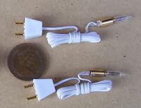 1:12 Échelle 2 Fonctionnelle Bougie Ampoules avec Supports Tumdee Maison de