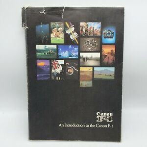 Rare 1973 An Introduction to the Canon F-1 35mm SLR Camera Guide Book