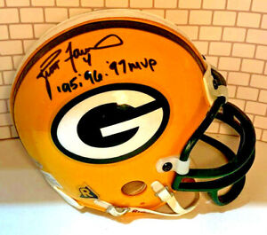 BRETT FAVRE AUTOGRAPHED SIGNED MVP INSCRIBED GREEN BAY PACKERS MINI HELMET wCOA
