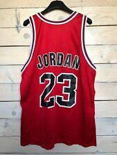 Vintage 90s Champion NBA Chicago Bulls #23 Michael Jordan Jersey Shirt Red 44