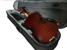 VIOLINS-BANKRUPTCY-NEW 4/4 ADULT SIZE VIOLIN/FIDDLE  DARK MAPLE-GERMAN