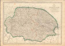 1863  LARGE ANTIQUE MAP - DISPATCH ATLAS- NORFOLK