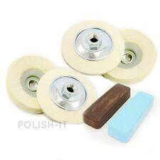 Kit Polissage 66-Feutre (Angle meule kit) pour les alliages d'aluminium,, cuivre, laiton