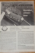 Porsche 911 1966 Factory Road Test Reprinted by Porsche from The Motor