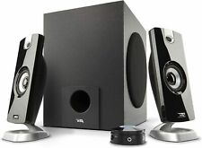Cyber Acoustics 2.1 Subwoofer Speaker System with 18W of Power Great for Music