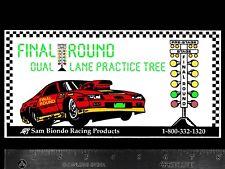 SAM BIONDO Duel Lane Practice Tree - Original Vintage Racing Decal/Sticker NHRA