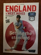 England v West Indies 2012 Cricket Programme 1st Investec Test Match at Lord's