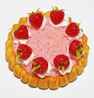 50 Dollhouse Miniature Tiny Strawberries Doll Mini Food Wholesale Strawberry