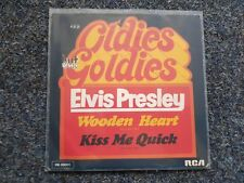 Elvis Presley - Wooden heart/ Kiss me quick 7'' Single Germany