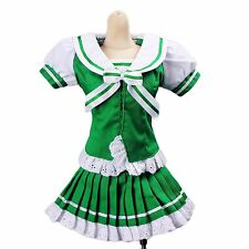 251# Green&White Bowknot Dress/Suit/Outfit 1/4 MSD AOD DOD DZ BJD Dollfie