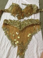 belly dance costume gold bedlah