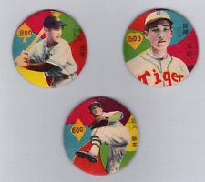 Lot of 3 vintage 1948 Japanese Menko pinwheel cards Fujimoto Kaneda Nishizawa EX