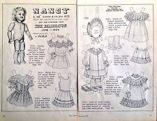Vintage Pat Stall Paper Doll, Nancy Simon & Halbig Doll , Uncut,1976 Doll News