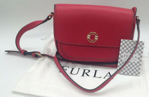 Small Red Leather FURLA Cross Body Bag (LP120F)