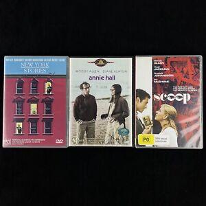 Woody Allen 3 x DVD Bundle Lot: Scoop, Annie Hall, New York Stories PAL