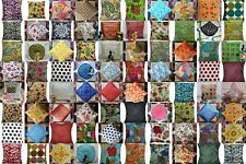Wholesale Lot 100-Pc Kantha Work Handmade Pillow Case Cushion Cover Bed Decor
