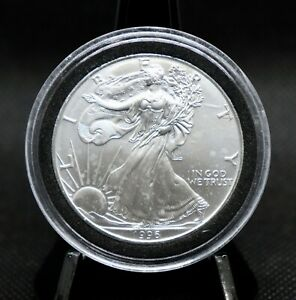 1996 American Silver Eagle Rare Date Very Nice Coin!