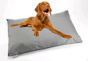 Large XL Grey Dog Bed waterproof Cushion Heavy Duty Cover Pet Mattress Tough
