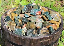 1/2 lb Bulk Lot of Natural Rough Ocean Jasper Crystals (Raw Sea Jasper, 8 oz)
