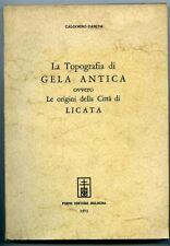 La topografia di Gela antica ovvero le origini della citt… di Licata - Calogero