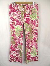 Rinascimento M Medium Floral Capri Cropped Pants Pink Green White Italy