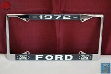1972 Ford Car Pick Up Truck Front Rear License Plate Holder Chrome Frame New