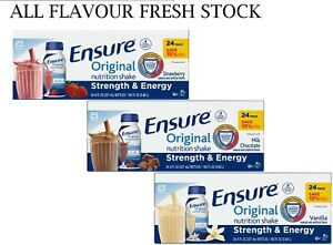 Ensure Original Nutrition Meal Replacement Shakes 9g of Protein (8 fl oz, 24 ct)