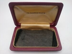 An Illinois Watch Deco Pocket Watch Empty Box Hard Case Holder
