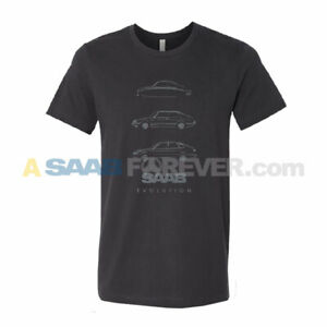 SAAB EVOLUTION SHORT SLEEVE T-SHIRT BLACK UNISEX ADULT RARE DEALER NEW SHIRT