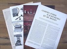 Article presse, Cuisines d'hier , d'aujourd'hui et demain 1953