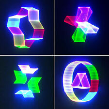 PRO Stage Lighting 3D Animation RGB Green Red Blue Full Color Laser light ILDA