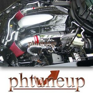 RED 2004-2008 CHRYSLER CROSSFIRE 3.2 3.2L DUAL TWIN AIR INTAKE KIT SYSTEMS