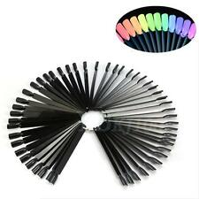50 Nail Swatches False Display Nail Art Fan Wheel Polish Practice Pop Tip Sticks