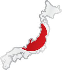 "Japan Country Flag Map Car Bumper Window Mirror Sticker Decal 4""X5"""